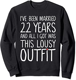 22 Years Wedding Anniversary Gift Idea for Him & Her Couples Sweatshirt