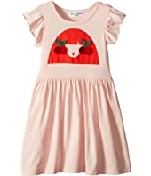 Sonia Rykiel Kids - Ayal Dress w/ Cherry Rykiel Girl Design on Front (Toddler/Little Kids/Big Kids)