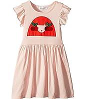 Sonia Rykiel Kids - Ayal Dress w/ Cherry Rykiel Girl Design on Front (Toddler/Little Kids/Big Kids)