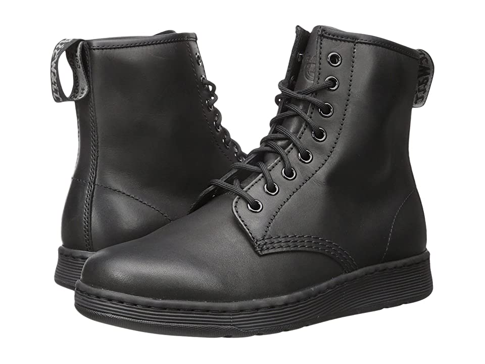 Dr. Martens Newton 8-Eye Boot (Black Temperley 1) Lace-up Boots