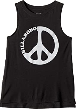 Billabong Kids Peace and Waves Tank Top (Little Kids/Big Kids)