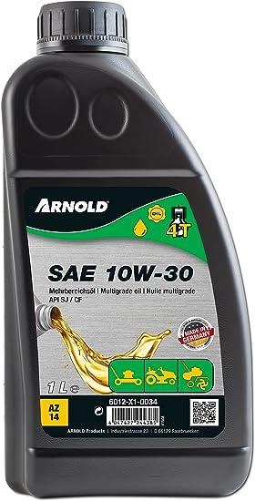 Arnold Mehrbereichsöl Sae 10w 30 Für 4 Takt Motorgeräte 1 Liter 6012 X1 0034 Baumarkt