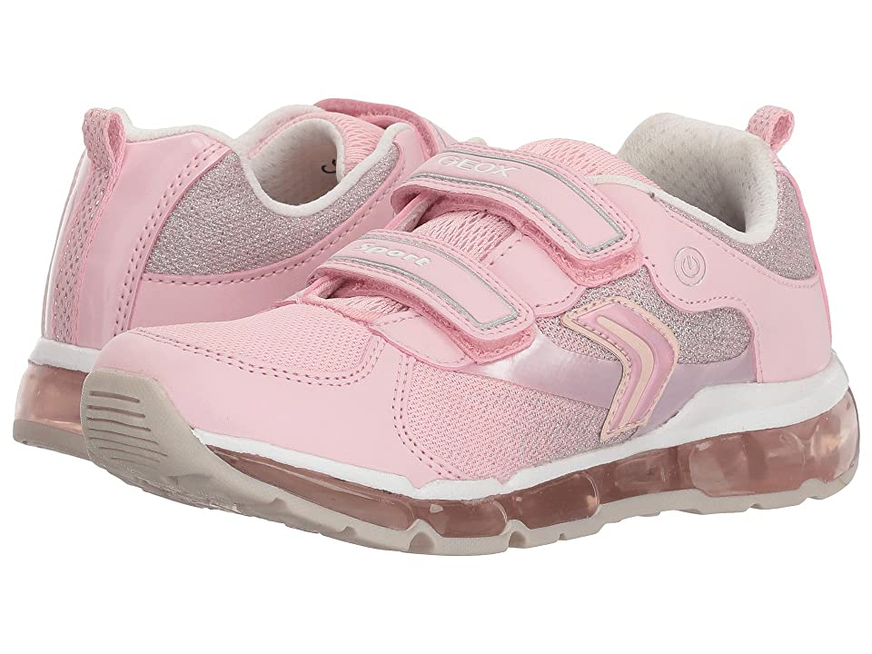 Geox Kids Android 15 (Little Kid/Big Kid) (Pink/White) Girl