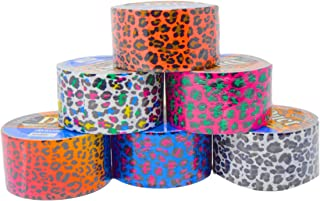 Set of 6 Colorful Duct Tape For Arts and Crafts (Leopard Print)