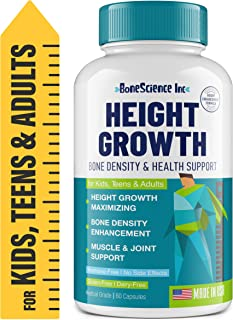 Height Growth Maximizer - Natural Peak Height - Made in USA - Height Pills Bone Growth - Grow Taller Supplement for Adults...