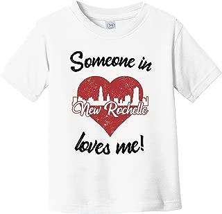 Someone in New Rochelle Loves Me Red Heart Skyline Infant Toddler T-Shirt