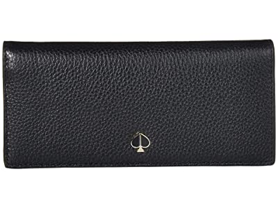 Kate Spade New York Polly Bifold Continental Wallet (Black) Wallet