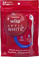 Colgate Optic White Wisp Disposable Mini Toothbrush, Cool Mint - 24 Count