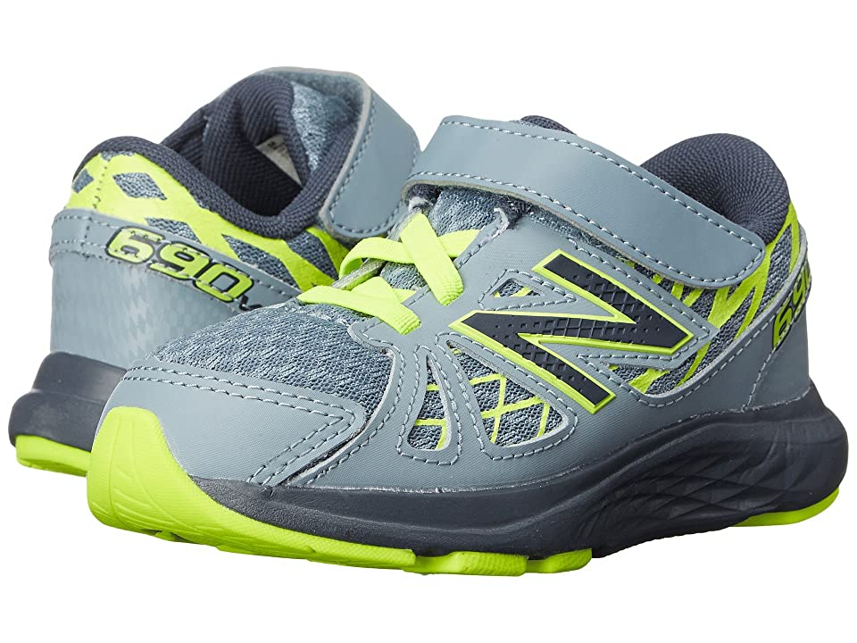 New Balance Kids 690v4 (Infant/Toddler) (Grey/Yellow) Boys Shoes