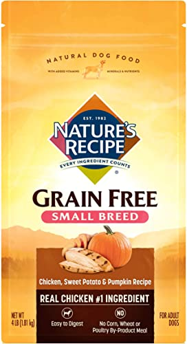 new arrival Nature's Recipe Grain Free Small Breed high quality discount Dry Dog Food, Chicken, Sweet Potato & Pumpkin outlet online sale