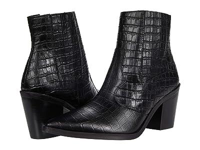 Blondo Que Waterproof Bootie (Black Croc) Women