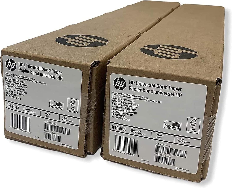 HP Wide Format Universal Bond Paper 24 Max 43% OFF 2 Ultra-Cheap Deals ft in 150 Bundl x Roll