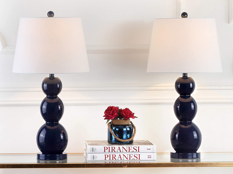 Safavieh Lighting Collection Jayne Navy B 3-Sphere 28-inch Jacksonville Selling Mall Glass