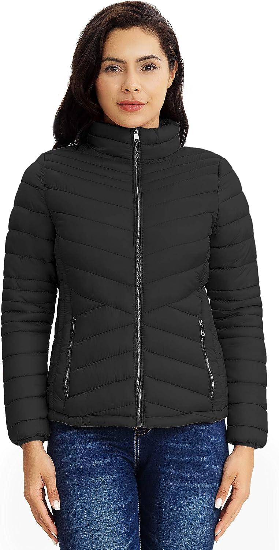 Polu Women Puffer Jacket Packable Lightweight Insulated Warm Winter Padded Jacket