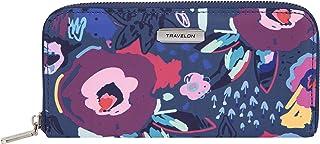 Travelon Women's RFID Blocking Single Zip Wallet, Mod Floral, One Size
