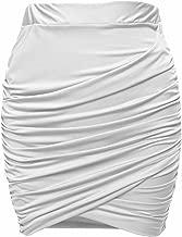 Zeagoo Damen Business Rock Sexy Mini Rock Kurz Bleistiftrock Stretch Enger Rock Gerafft Hohe Taille Kleid