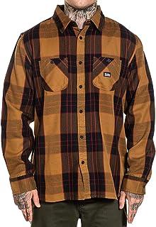 Sullen Men's Jobsite Plaid Flannel Long Sleeve Buttondown Shirt