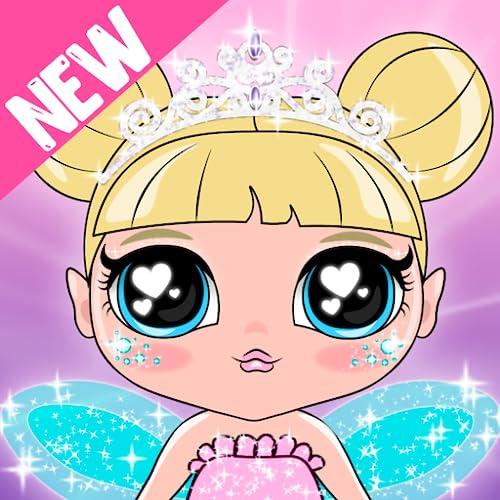 Schönheitssalon. Mode Puppen, Make Up, Haare Schneiden Und Verkleiden Sich Spiele
