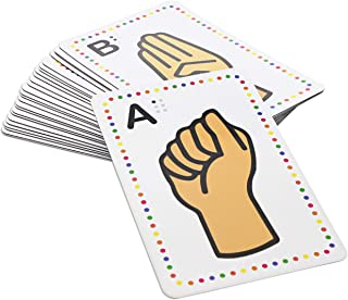 Sign Language Flash Cards, 26 Letters with Gestures