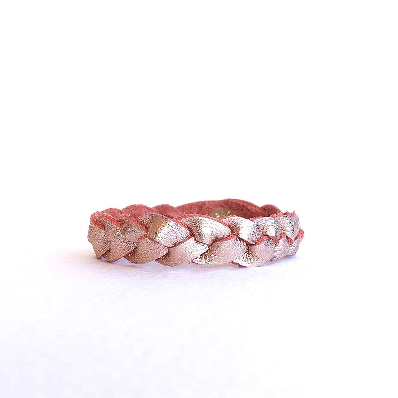 Essential Oil Diffuser Braided Leather Bracelet - Rose Gold