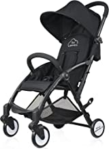 Tiny Wonders Black Lightweight Compact Baby Stroller, Portable Airplane Travel Carry On Strollers, Folding Umbrella Pram for 6, 9, 12Months, 1, 2 Year Old Newborn, Infants, Toddlers, Boy, Girl (Black)