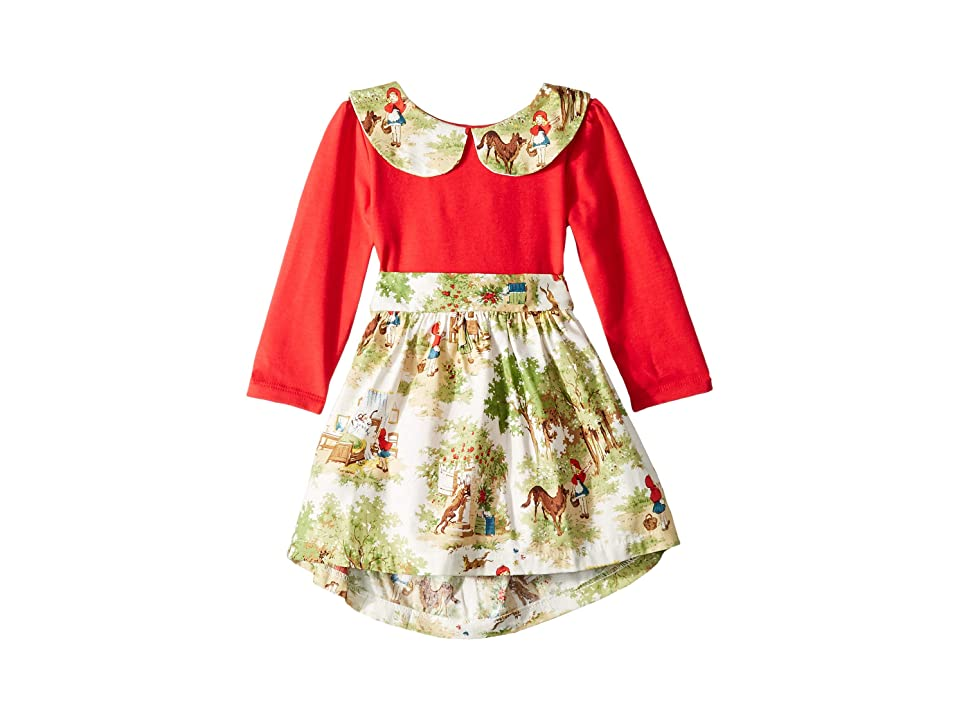 fiveloaves twofish Little Abbie Dress (Infant) (Red) Girl