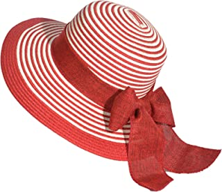 Miuno Women's Soft Sun Hat Party Hat Straw Hat Bow H51065