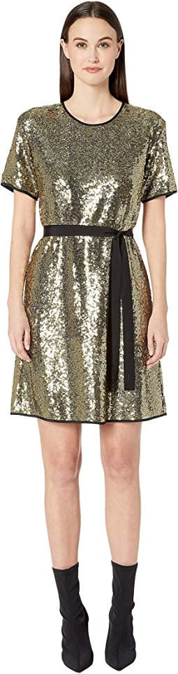 Sequin Shirtdress