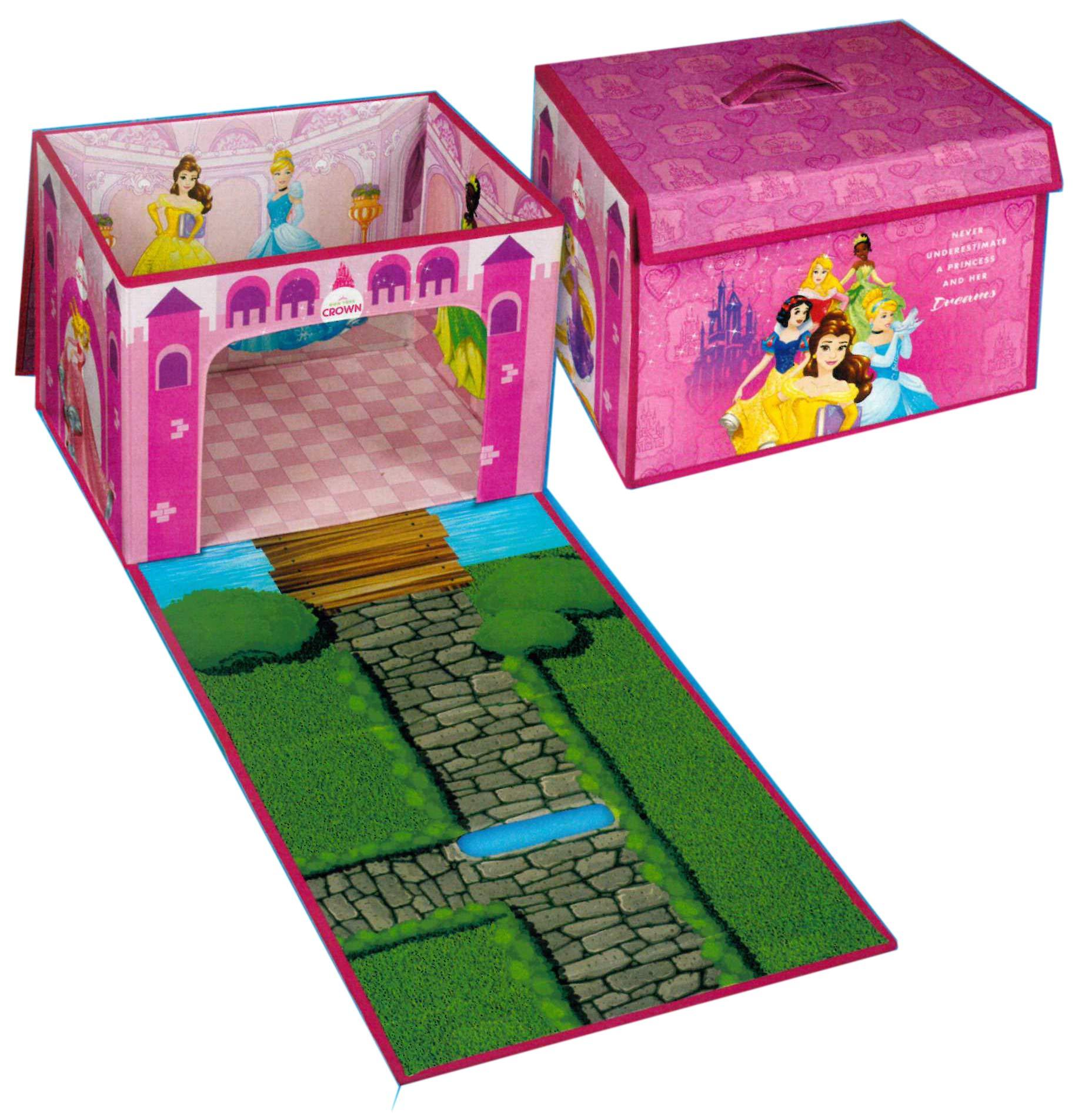 Brandsseller - Caja de almacenaje para niños (plegable, 2 en 1), diseño de princesas Disney: Amazon.es: Juguetes y juegos