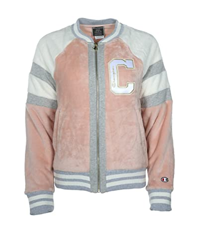Champion Super Fleece Faux Fur Jacket Felt (Spiced Almond Pink) Women