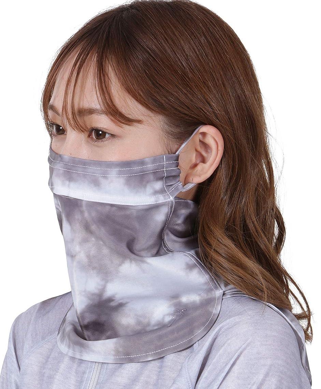 レンディション断言する遮るICEPARDAL(アイスパーダル) 全10色柄 UVカット98% フェイスガード 鼻部分開口で呼吸しやすい イヤーフック付き 冷感 日焼け防止 UPF50+ IAA-950