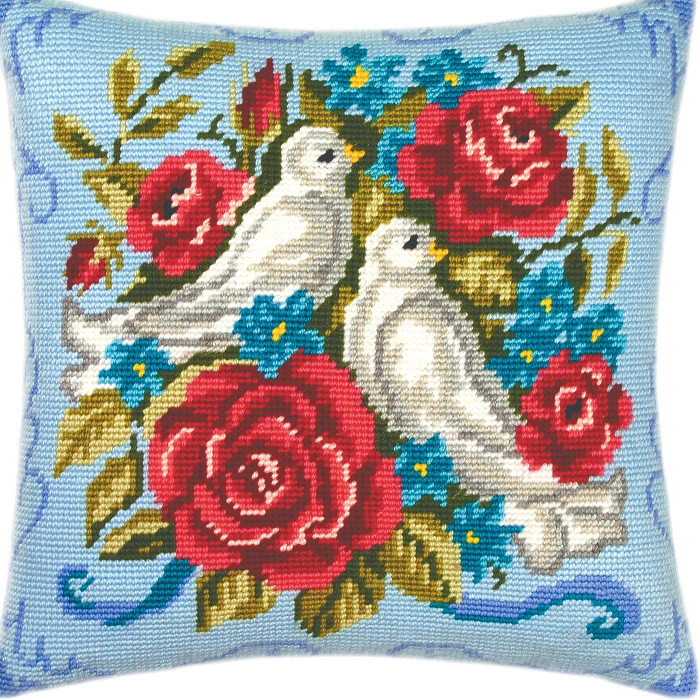 Pigeons. Max 77% OFF Needlepoint Kit. Throw Inches. SEAL limited product Printed Pillow 16×16