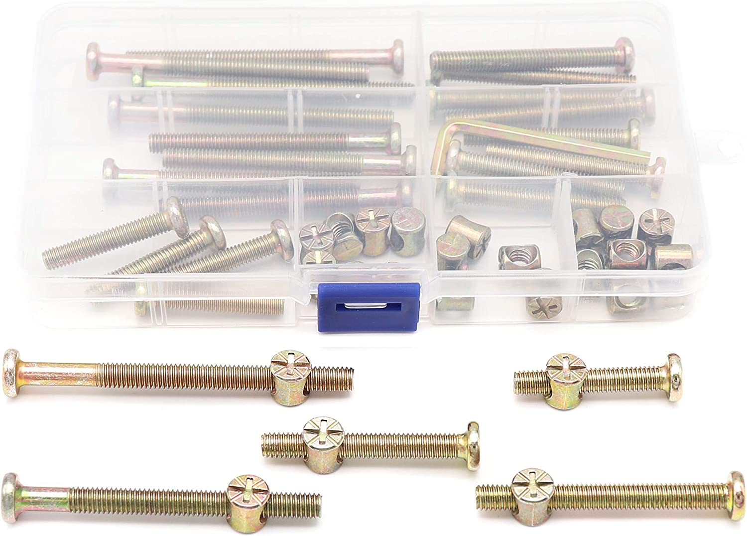 All items in the store binifiMux Baby Bed Crib Screws Hardware Parts 50pcs Replacement Max 68% OFF