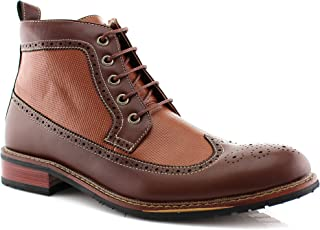 Ferro Aldo Michael MFA806278 Mens Casual Wing Tip Perforated Mid-Top Brogue Boots