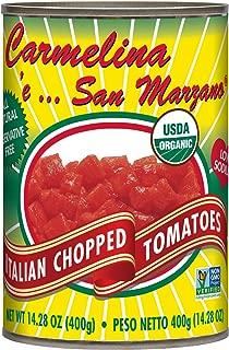 Carmelina San Marzano Organic Italian Chopped Tomatoes in Puree, 14.28 ounce (Pack of 12)