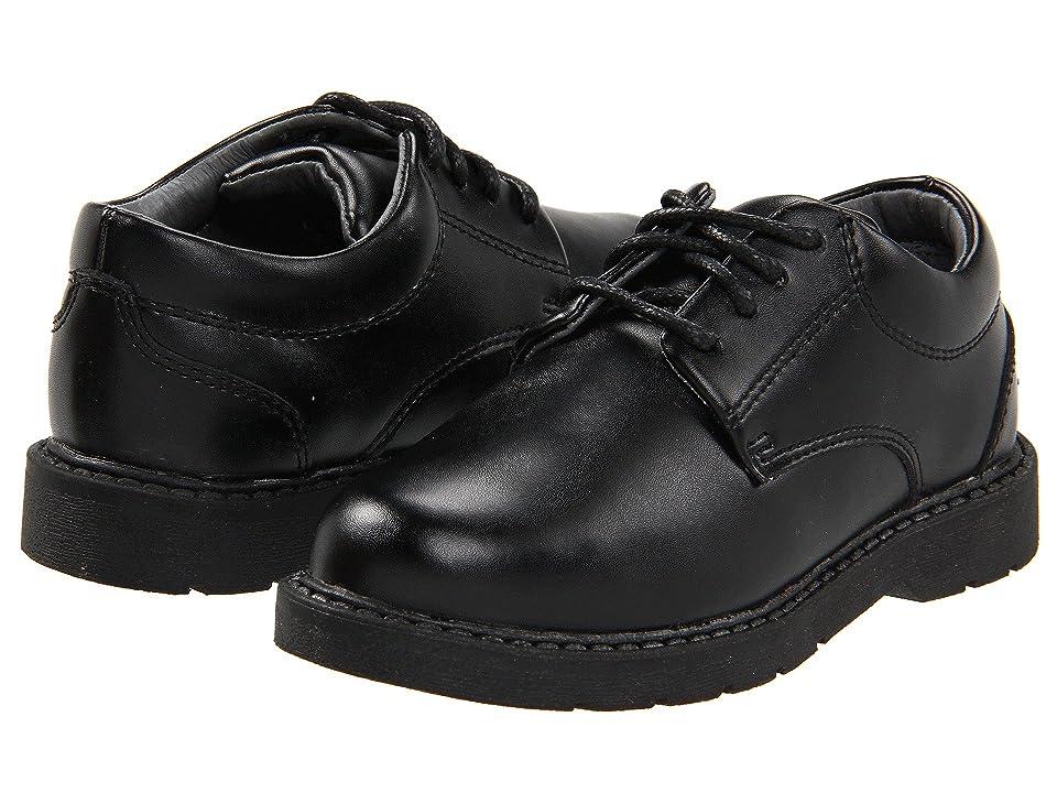 School Issue Scholar (Toddler/Little Kid/Big Kid) (Black Leather) Boys Shoes