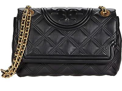 Tory Burch Fleming Soft Convertible Shoulder Bag (Black) Handbags