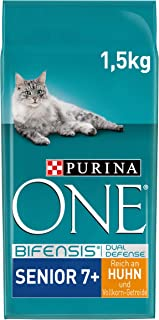 PURINA ONE BIFENSIS SENIOR 7+ kattenvoer droog, rijk aan kip, 6-pack (6 x 1,5 kg)