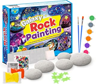 Rock Painting Kit | Galaxy Version | Arts & Crafts Kit for Girls & Boys | Painting Supplies for kids | Spark Creativity an...
