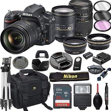 $1999 Get Nikon D750 DSLR Camera with 24-120mm VR + Tamron 70-300mm + 32GB Card, Tripod, Flash, and More (21pc Bundle)