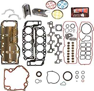 Evergreen Engine Rering Kit FSBRR8-30400EVE000 Fits 99-03 Dodge Dakota Durango Jeep 4.7 SOHC Full Gasket Set, Standard Size Main Rod Bearings, Standard Size Piston Rings