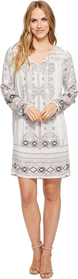 Printed Peasant Dress
