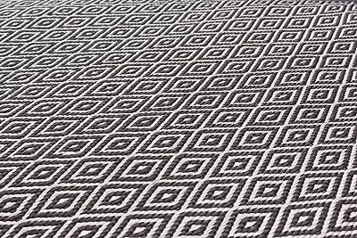 Ecarpetgallery Hand-Woven Honeycomb Diamond 8 x 12 Ivory 100% Art Silk