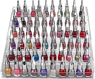 Kurtzy Organizador de Esmalte uñas 6 Niveles con Tornillos de plástico - Soporte de Esmalte uñas acrílico (30 x 23,5 x 18,5cm) - Soporte Almacenamiento Capacidad de 60 Botellas tamaño estándar