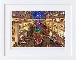 【写真工房アートフォト 額装写真】 サッポロファクトリーのクリスマスツリー/北海道 札幌市(ホワイト 大判サイズ 557mm×442mm)