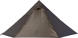 OneTigris | Svart Orca Iron Wall eldstadstält med innertält 7-Sided 2-kammare enkel tipi tält för trekking camping utomhus