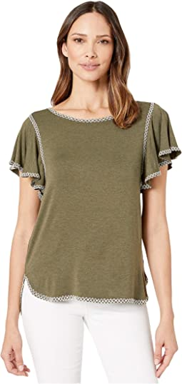 f7eeb8de54a3c6 Sleeveless V-Neck Knit Top. $21.99MSRP: $68.00. New. Heather Army/Ecru