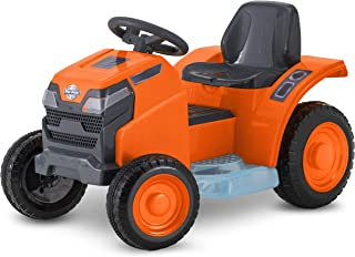 NB Realistic,Fun,Exciting,Safe to Ride Mow & Go Lawn Mower, 6-Volt Ride-On Toy for Kids,Ages 18 - 30 Months,Orange,Wonderful Gift Idea
