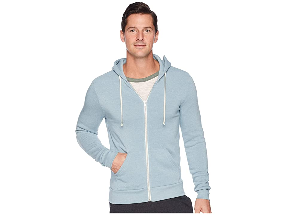 Alternative Rocky Eco-Fleece Zip Hoodie (Eco True Smoke Blue) Men