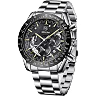 BENYAR Mens Chronograph Analog Waterproof Watch-Luxury Business Dress Watches Perfect for...
